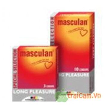 Bao cao su Masculan hộp 10 cái an toàn và hiệu quả