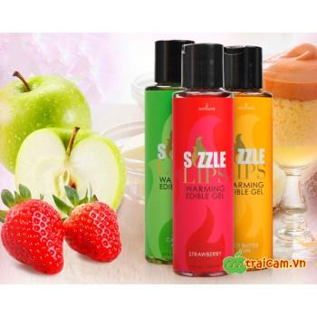 Gel massage làm ấm cơ thể Sensuva Sizzle Lips có thể nếm được
