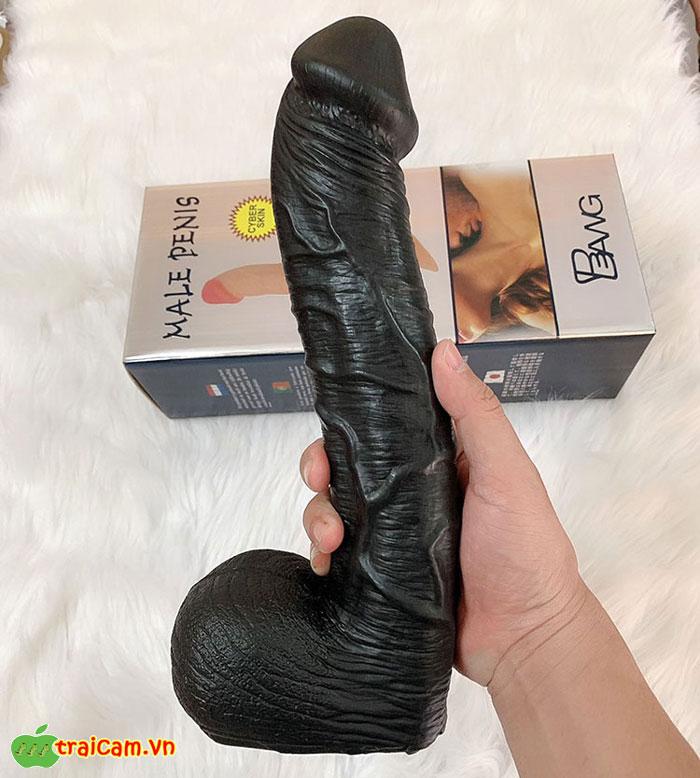 Dương Vật Giả Siêu Khủng Màu Đen Kích Thước 35cm - Traicam.vn 1