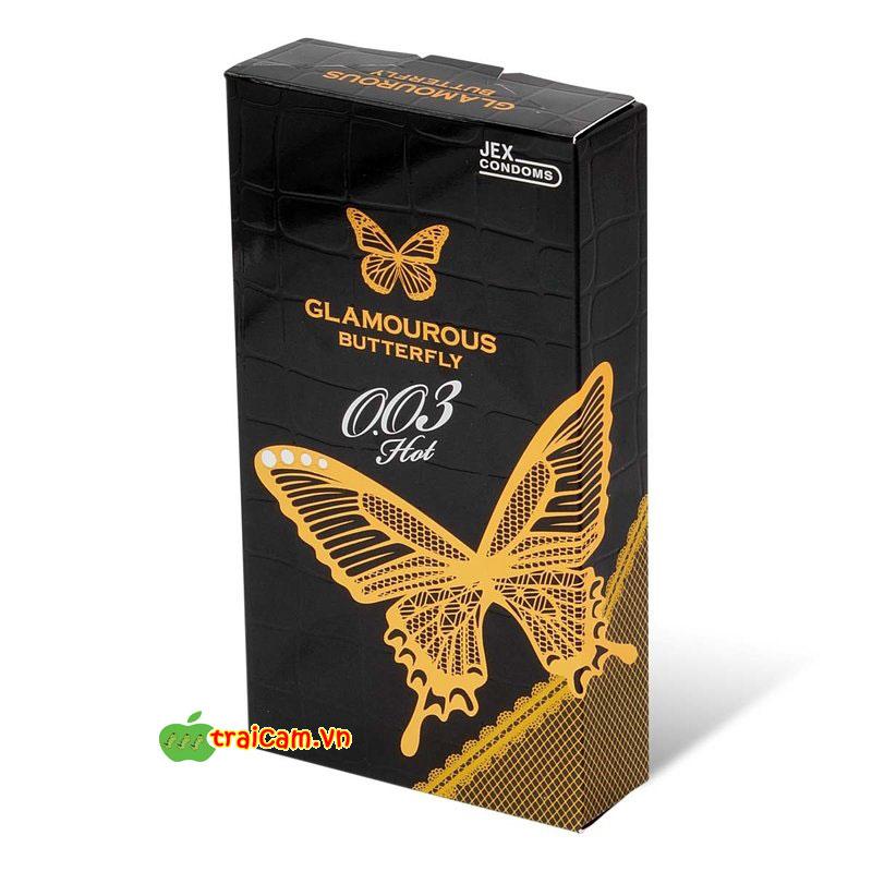 Bao cao su siêu mỏng Jex Glamourous Butterfly Hot 003 phù hợp cho người nhạy cảm