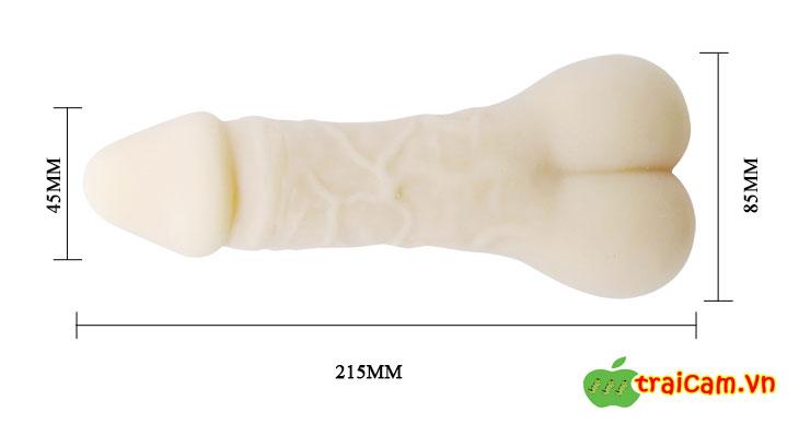 Bao cao su đôn hình dương vật cho nam nữ thủ dâm và tăng kích thước dương vật lớn hơn 5