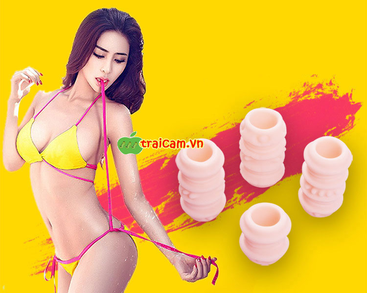 Bộ bao đôn khúc silicone gân gai đeo dương vật giúp nữ giới phê hơn 1