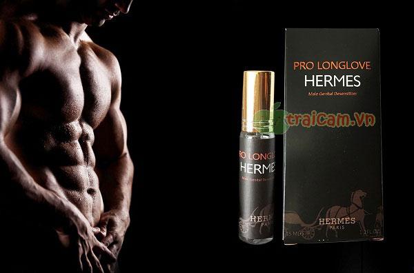 Chai xịt lâu ra, lâu xuất tinh Pro Longlove Hermes