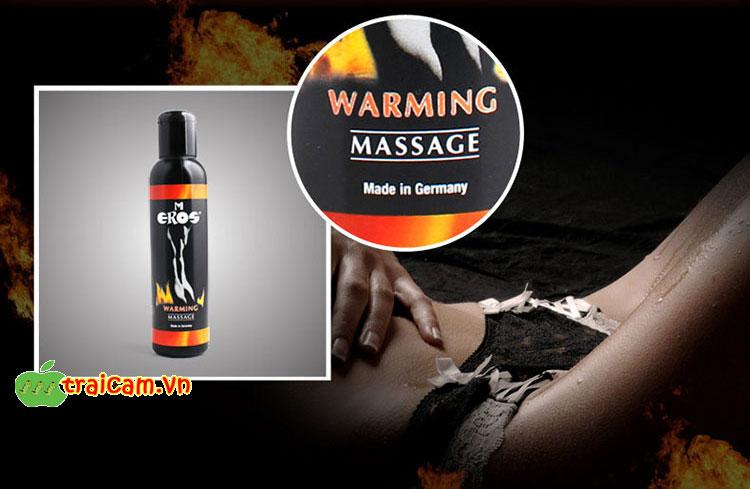 Dầu massage toàn thân Eros Warming chính hãng Đức nỏng bóng cho dạo đầu đã hơn 2
