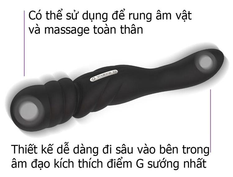 Dương Vật Giả Massage Điểm G 2 Đầu Rung Nalone Jane - Sextoy 6