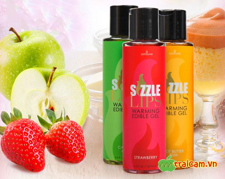 Gel massage làm ấm cơ thể Sensuva Sizzle Lips có thể nếm được kích thích cơ thể phụ nữ