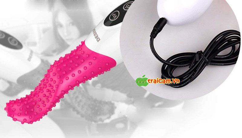 Lưỡi liếm âm vật silicone mềm có rung Jeusn rung cực mạnh 4