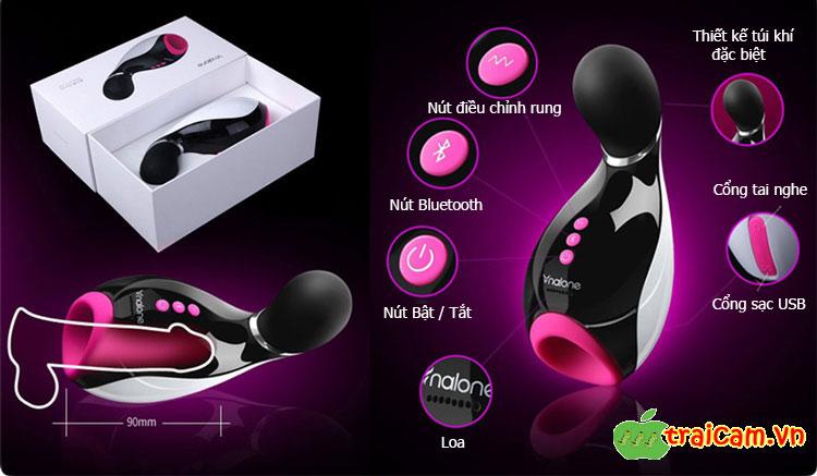 Máy thủ dâm cao cấp dành cho nam giới Nalone Oxxy có rung và kết nối Bluetooth 2