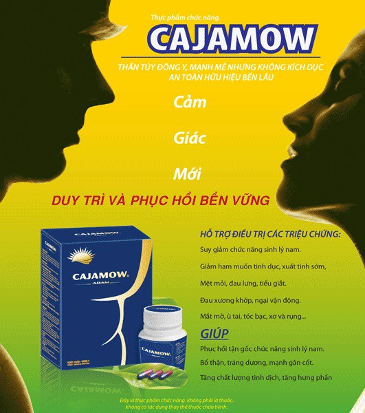 Phục hồi sinh lực cho nam - Cajamow