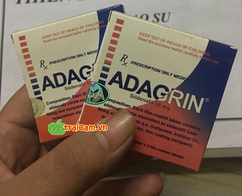 Thuốc cường dương Adagrin cho nam giới 50mg phục hồi sinh lý nam 1