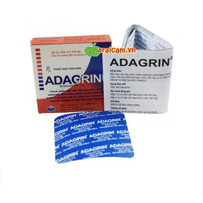 Thuốc cường dương Adagrin cho nam giới 50mg phục hồi sinh lý nam