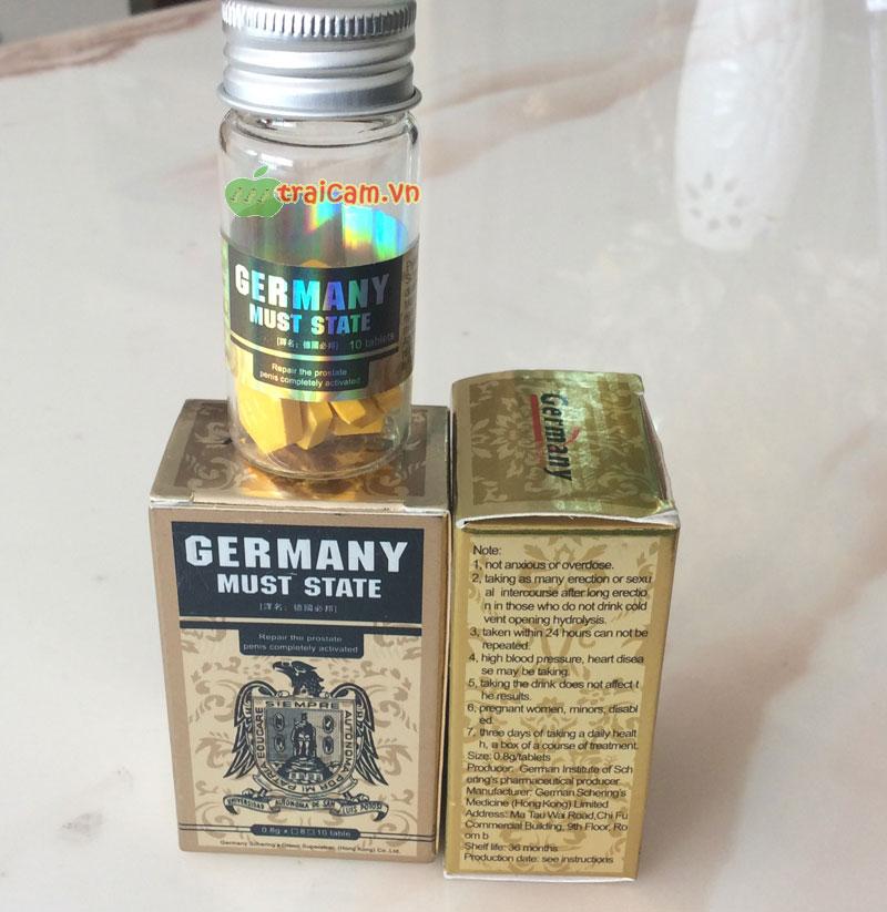 Thuốc cương dương Germany Must State nhập khẩu Đức hiệu quả 3