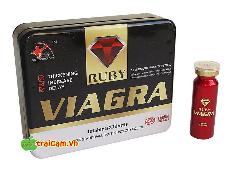 Thuốc cường dương thảo dược Ruby Viagra USA điều trị chứng bất lực của nam giới 1