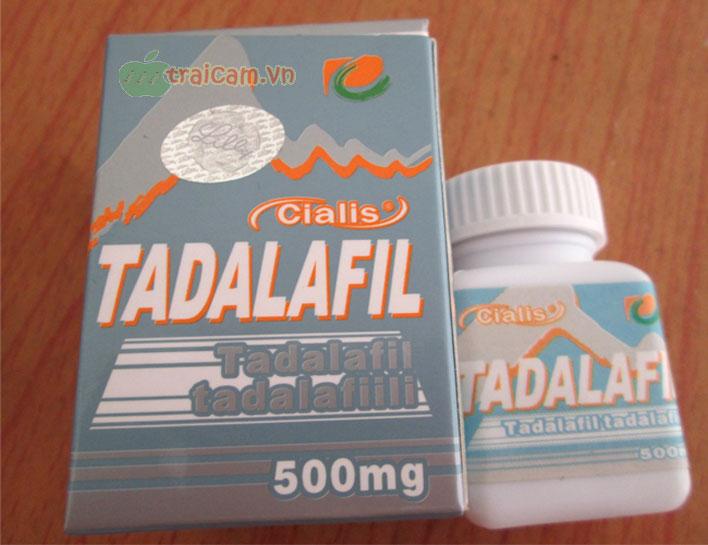 Thuốc trị rối loạn cương dương Tadalafil 500mg cải thiện khả sinh lý