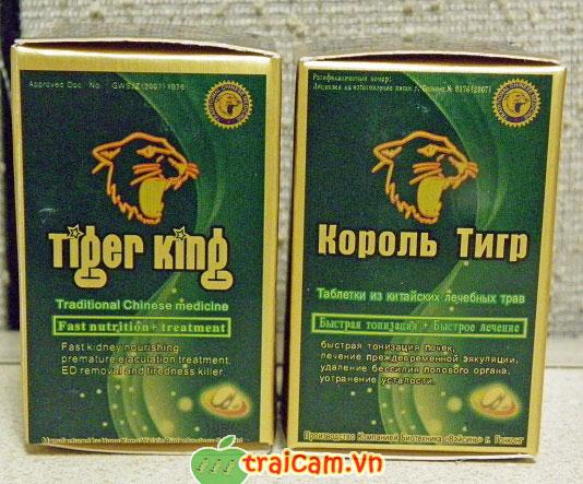 Tiger King - Thuốc uống chơi lâu ra cho nam giới hiệu quả mạnh
