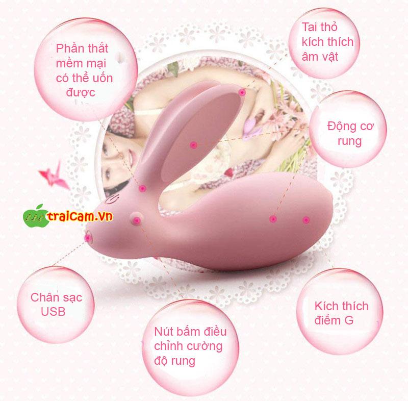 Trứng rung con thỏ cao cấp Luxeluv cho chị em giải tỏa ham muốn sinh lý rung 8 chế độ 9