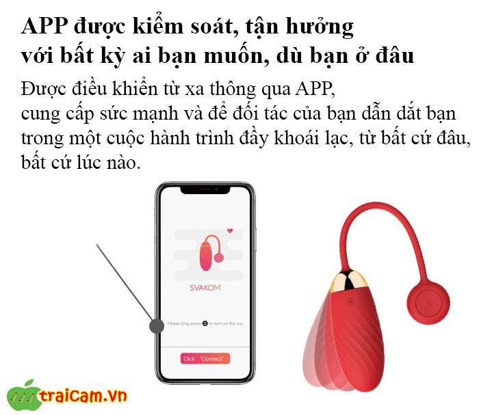 Trứng Rung Điều Khiển Từ Xa Bằng App Svakom Ella Neo 5