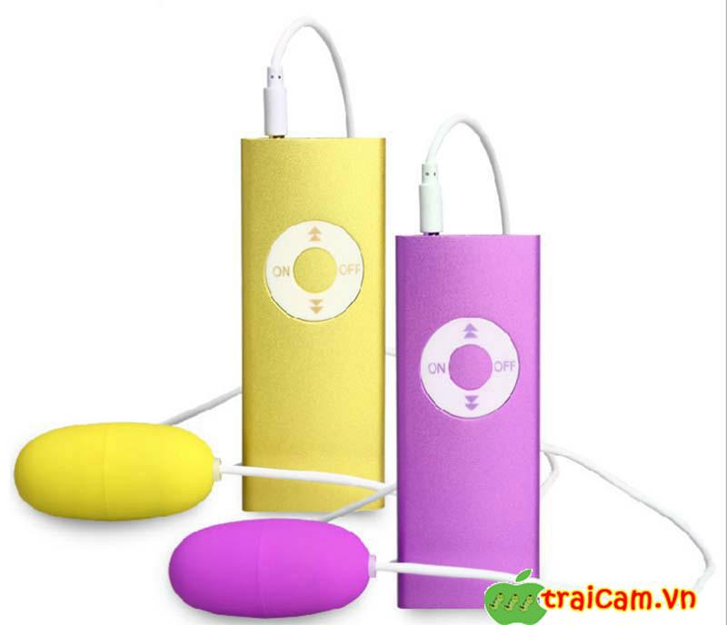 Trứng rung đôi tình yêu mô phỏng máy nghe nhạc MP3 Leten rung âm đạo siêu mạnh 1