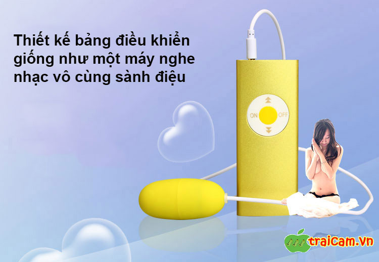 Trứng rung đôi tình yêu mô phỏng máy nghe nhạc MP3 Leten rung âm đạo siêu mạnh 10