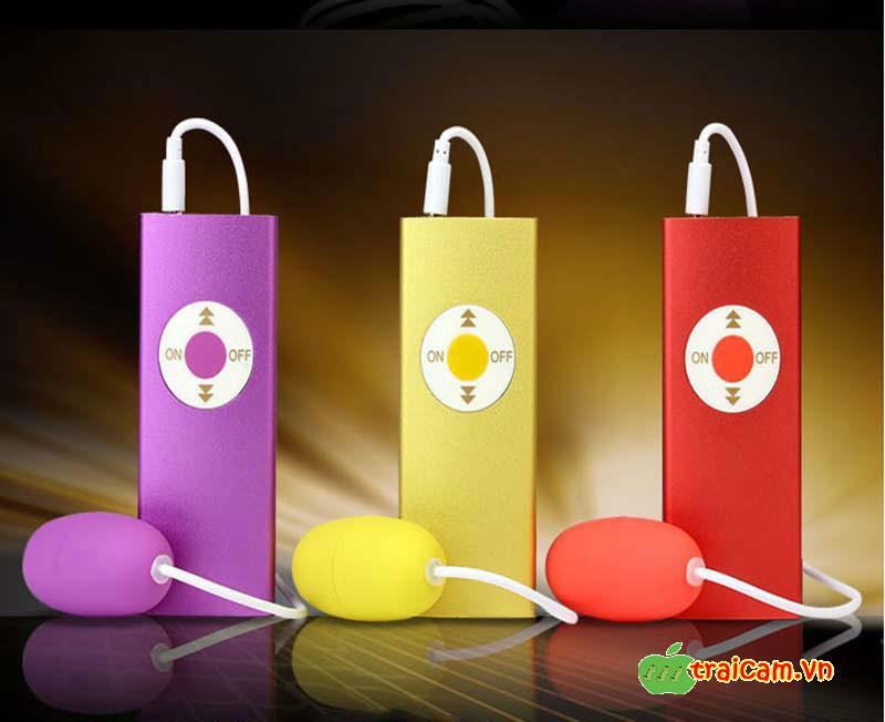 Trứng rung đôi tình yêu mô phỏng máy nghe nhạc MP3 Leten rung âm đạo siêu mạnh