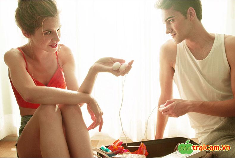 Trứng rung Durex hai đầu Dual Head Vibration rung đa tần nhiều chế độ 8