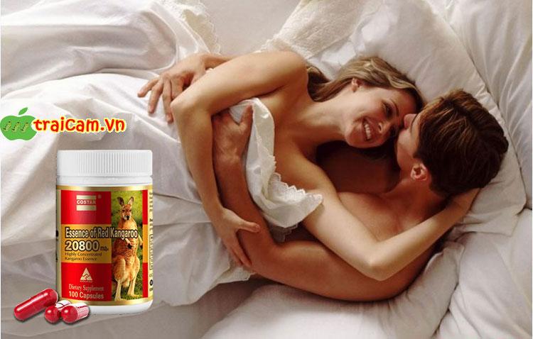 Viên uống tăng cường sinh lý nam giới Essence of Red Kangaroo cho nam giới sung mãn hơn 1