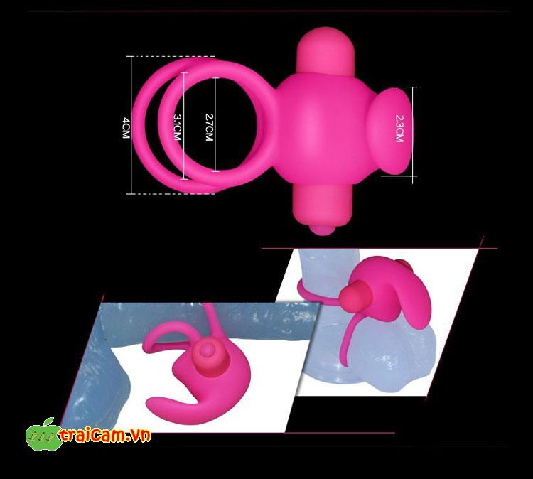Vòng tình yêu silicon siêu mềm rung cực mạnh - Đồ chơi tình dục Trái Cấm 4